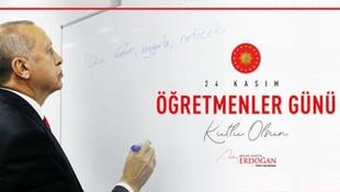 Erdoğan'dan 24 Kasım paylaşımı