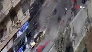 Afrin saldırısı güvenlik kamerasında