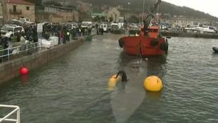 3 ton kokain taşıyan denizaltı limana çekildi