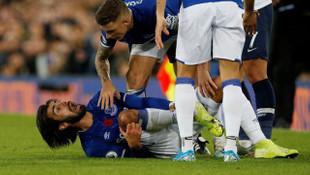 Everton - Tottenham maçında Andre Gomes'in ayağı kırıldı