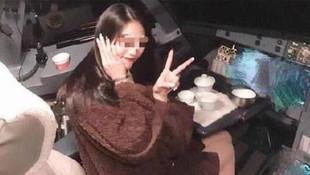 Yolcu uçağının kokpitinde skandal fotoğraf