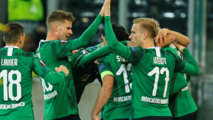 Borussia Mönchengladbach 2 - 1 Roma (UEFA Avrupa Ligi)