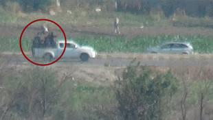 Kamışlı'da Rus askerler ve terörsitler böyle görüntülendi