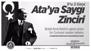 Atatürk Maltepe'de saygı zinciri ve saygı dalışıyla anılacak