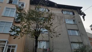 İstanbul'da 6 katlı binanın çatısı çöktü
