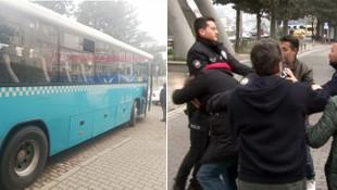 Otobüste uyuyan kadına taciz ! Vantandaş linç ediyordu