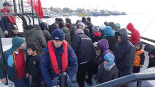 Kaçak göçmenler Yunanistan'a giderken yakalandı