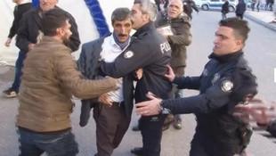Diyarbakır anneleri HDP'li vekillere terlik fırlattı