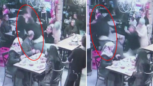 Garson, bebek sandalyesine çarpınca ortalık karıştı