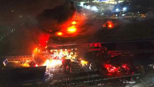 Düzce'nin en büyük fabrikasında yangın