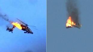Helikopteri füzeyle vurdular! O anlar kamerada