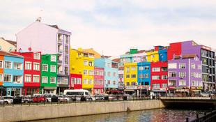 Burası İstanbul... Rengarenk evleri görenler hayran kaldı