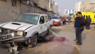 El Bab'da bomba yüklü araçla saldırı !