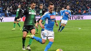 Sassuolo-Napoli maç sonucu: 1-2 (Eljif Elmas, Napoli'yi kurtardı)