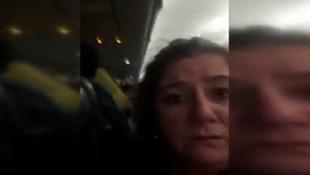 Havada büyük panik! Yolcular fenalık geçirdi... O anlar kamerada!