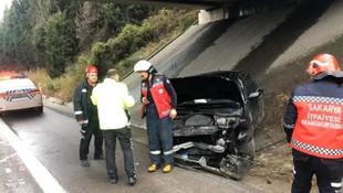 Mahir Ünal'ın makam şoförü kaza yaptı !