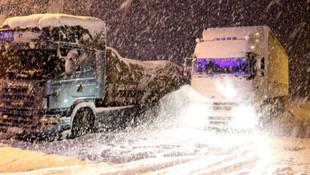 Kara kış yüzünü gösterdi ! Ulaşıma kar engeli