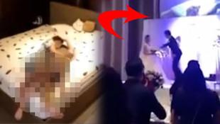 Düğünde şoke eden olay ! Aldatılan damat, gelinin görüntülerini ekrana yansıttı