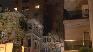 İstanbul'da 8 katlı binada yangın paniği