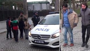 Taksim'de iğrenç taciz ! Gözaltına alındı