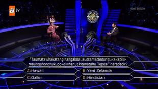 Kim Milyoner Olmak İster'de ilginç sorular
