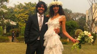 Hindistan'da evlendiler