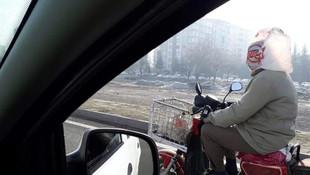 Trafikte görenler gözlerine inanamadı