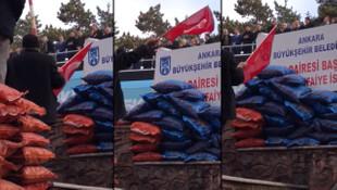 AK Parti'nin Ankara mitingine damgasını vuran görüntü