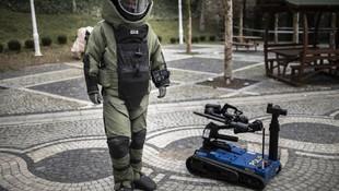 Yerli bomba imha robotu görev başında !