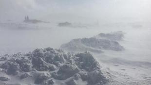 Kar fırtınası çocukları eve dönüş yolunda yakaladı