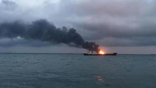 Boğazda yanan gemi 1 ay sonra söndürüldü