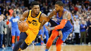 Oklahoma City Thunder'dan Jazz potasına George ve Westbrook'tan 88 sayı