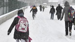 Eğitime kar engeli ! Pervari'de okullar tatil edildi