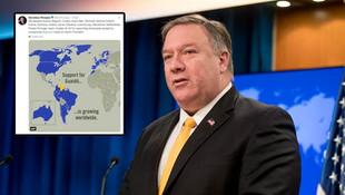 ABD'li Bakan'ın paylaştığı haritada skandal Türkiye detayı