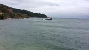 Marmara Adası açıklarında gemi battı !