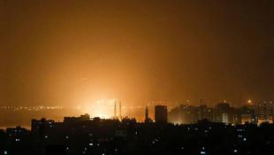 İsrail Ordusu yine Gazze'yi bombaladı