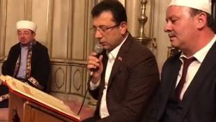 CHP'nin İstanbul adayı Ekrem İmamoğlu Yasin okudu