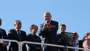Soylu'dan İstanbul mitinginde kendisine tepki gösteren vatandaşa sert yanıt