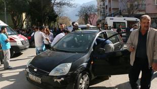 Polis memurunu darp edip kaçarken kaza yaptı