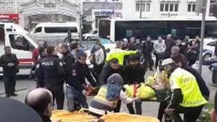 Beyazıt'ta halk otobüsü dehşeti ! İki ayağı birden koptu