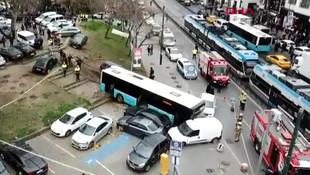 Beyazıt'ta halk otobüsü dehşeti: Çok sayıda yaralı var