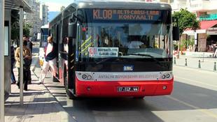 Antalya'da toplu ulaşım 4 saat ücretsiz oldu