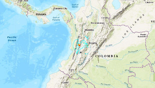 Kolombiya'da 6.1 büyüklüğünde deprem