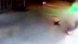 Ankara'daki feci kaza güvenlik kamerasına yansıdı
