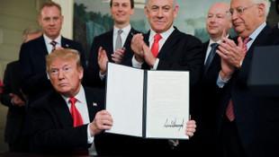 Trump, Golan Tepeleri'ni İsrail toprağı kabul eden kararnameyi imzaladı