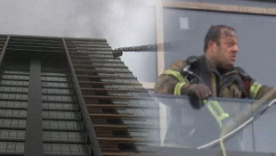 İstanbul'da 25 katlı binada korkutan yangın