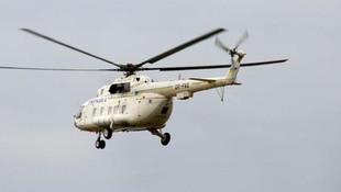 Kazakistan'da helikopter düştü