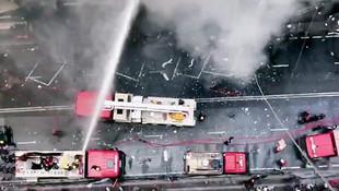 Ülke şokta: Gökdelende yangın
