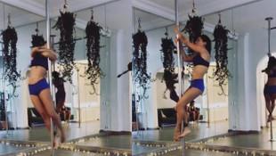 Güzel şarkıcının direk dansı sosyal medyayı salladı