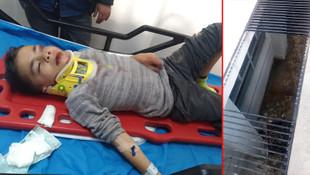 Okulda korkunç kaza ! Minik çocuk ölümden döndü